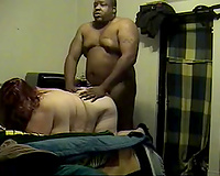 Homemade sex tape with me enjoying from behind interracial sex