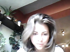 Beautiful dilettante chick disrobes seductively on webcam