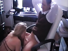 Gorgeous sexretary works on my dong and lets me fuck her from behind
