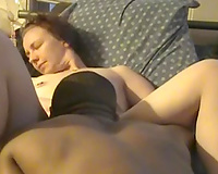 Moaning sweetly during the time that my dark fuckbuddy eats my twat