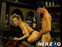 Desirable golden-haired whores with great slender bodies acquire hammered in 4some