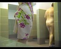 Breath-taking hidden camera clip from a public shower