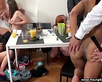 Sexy women with great bodies fuck excited studs and take up with the tongue snatches