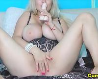 Huge Tits Alisena Fucks her Tight Pussy