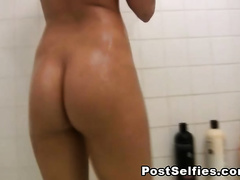 BigTits Brunette Girlfriend Caught Naked In Bath
