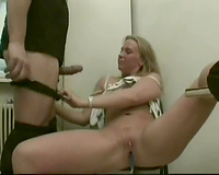 Cute euro mature bitch masturbates and acquires pawed rude