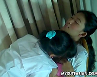 Two bewitching and recent Filipina cuties making out with every other