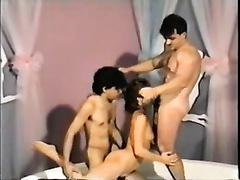 Torrid filthy gal receives flying way screwed by 2 brutal freaks