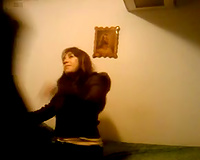 Mexican hooker is in my room for a quickie on hidden cam
