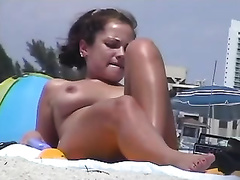 Awesome nudist beach compilation of youthful new sweethearts