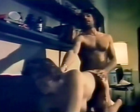 Vintage str8 enjoyment sex with well shaped dark brown in nylons
