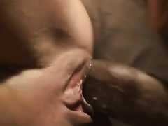 Black man drills my pussy and covers my pubis with cum