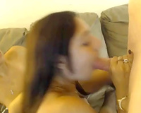 Two astonishing brunettes eat love tunnels and give a orall-service to a stud