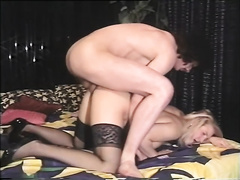Vintage porn compilation with sexy blondie and lustful dark brown