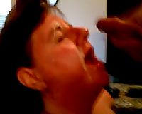 Fat whore gives me some worthy deepthroat in front of the camera