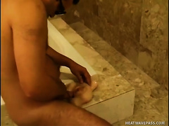 Hell seductive Latina chica acquires screwed doggy style in the baths