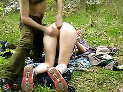 Awesome outdoor fisting for my petite fastened up babe