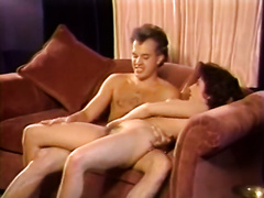 Luscious brunette mother I'd like to fuck gives stout oral stimulation previous to fucking missionary style. Retro porn movie scene