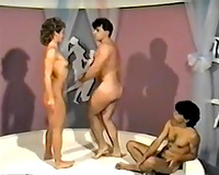 Mind blowing torrid gal has awesome three-some with brutal beefcake dawgs