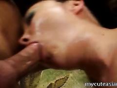 Sperm addicted Korean nympho gives head like nobody