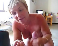 Stacked short haired white milf white wife gives head and makes me cum