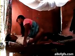 Filthy Indian skank is screwed doggy style upskirt previous to this babe rides the shaft on top