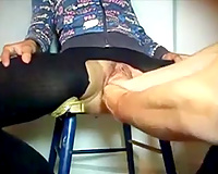 My amateur wife shows her biggest cunt to me and lets me double-fist it