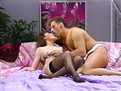 Vintage porn compilation with breasty blondie and slender brunette hair