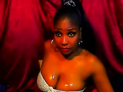 Astonishing web camera solo with a sensual ebon playgirl