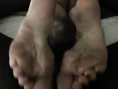 Breath-taking interracial footjob POV scene with my sexy paramour