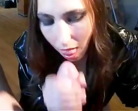 The most excellent sight is when a lustful white milf smokes and blows my schlong