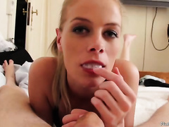 French cougar engulfing young dick
