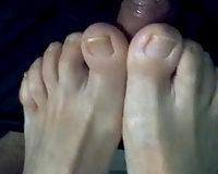 My client is a fucking pervert and this chab knows how priceless I am at giving footjobs