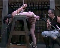 Naughty dark brown floozy acquires her taut slit worked over