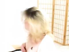Blonde college white wife fingers her twat in panty fetish solo movie scene