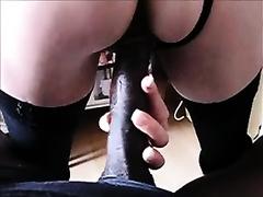 White French slut loves my large dark pecker from behind
