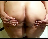 Insatiable old bitch is a butt floozy who can't live without to fuck on camera
