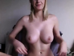 Awesome masturbation movie scene with a well-endowed dilettante blond babe