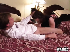 Cock engulfing is the majority important part of ginger slut's life