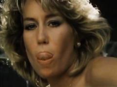 Lubricious hotties having vehement outdoor sex in exciting vintage sex movie scene