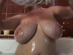 My avid and always sex-hungry cheating wife goes wild in the bathtub
