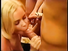 Blonde British girlfriend is enjoying large rods orally