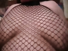 German big beautiful woman doxy in fishnet nylons likes missionary position