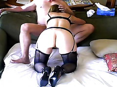 A carnal blond milf enjoys sucking my knob in homemade video