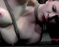 Horny female-dominant copulates her slave's pierced wet crack with a pole