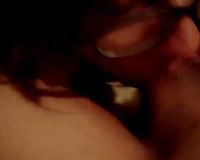 Petite non-professional girlfriend gives me irrumation on POV sex video