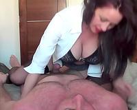 Big boobed older woman