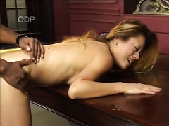 Breath-taking interracial sex scene with carnal Asian harlot