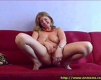 She satisfies her massive raunchy appetite by masturbating on a daily basis