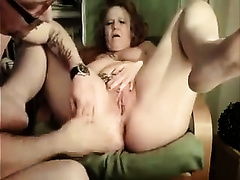 Incredibly nasty German granny definitely can't live without anal fisting